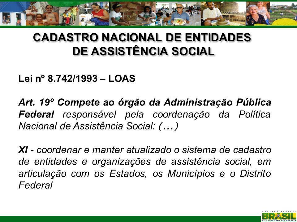 CADASTRO NACIONAL DE ENTIDADES