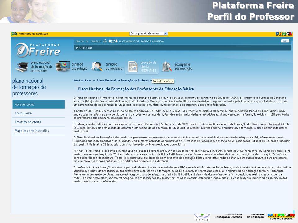 Plataforma Freire Perfil do Professor