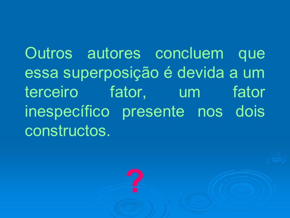 Outros autores concluem que essa superposição é devida a um terceiro fator, um fator inespecífico presente nos dois constructos.