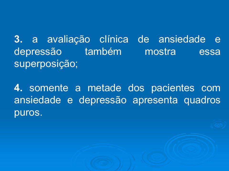 3. a avaliação clínica de ansiedade e depressão também mostra essa superposição;