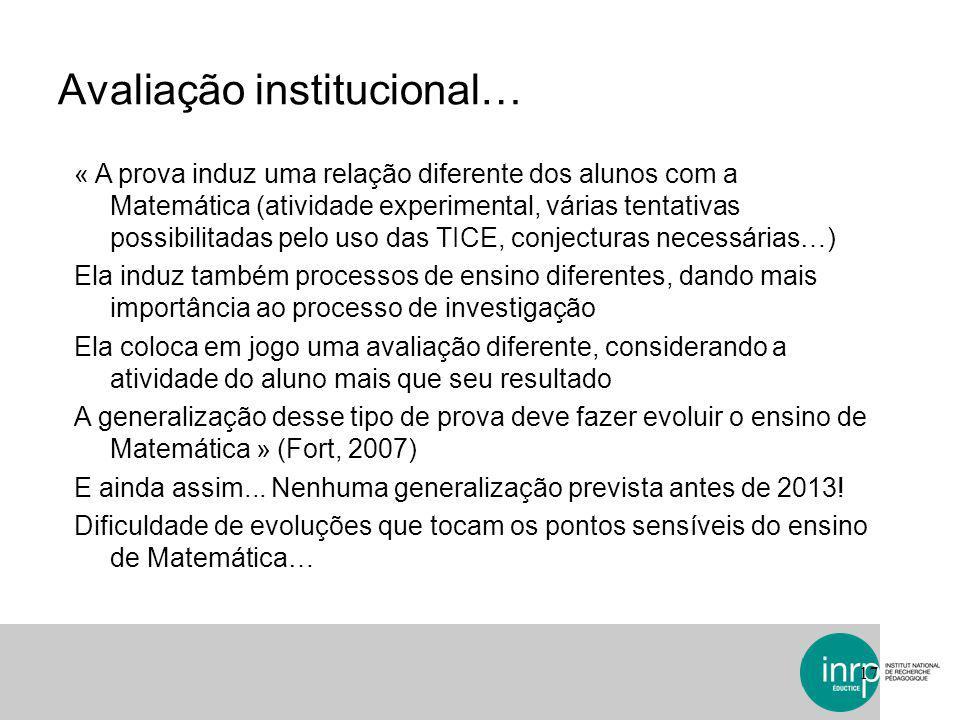 Avaliação institucional…