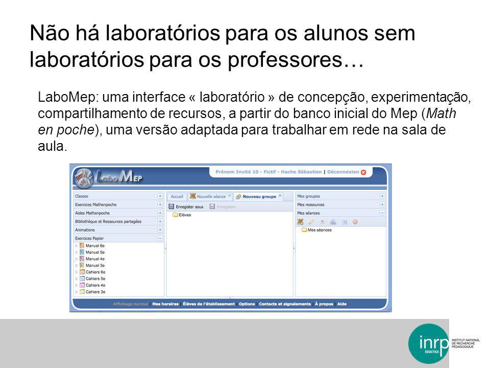 Não há laboratórios para os alunos sem laboratórios para os professores…