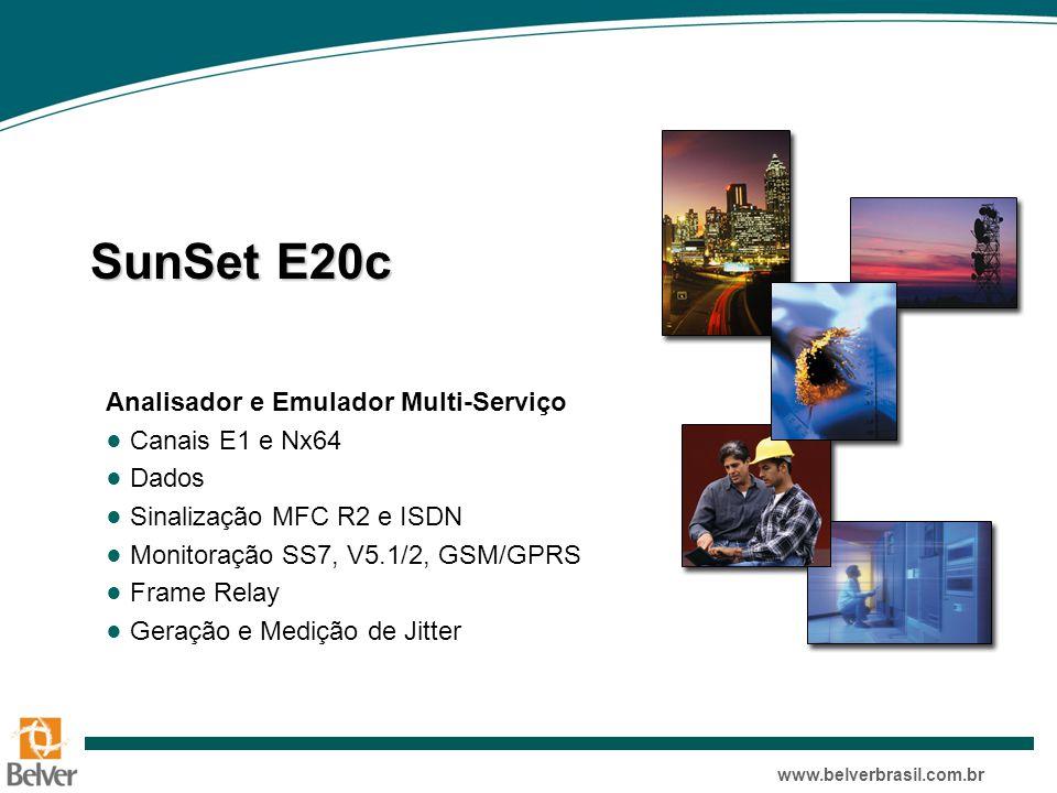 SunSet E20c Analisador e Emulador Multi-Serviço Canais E1 e Nx64 Dados