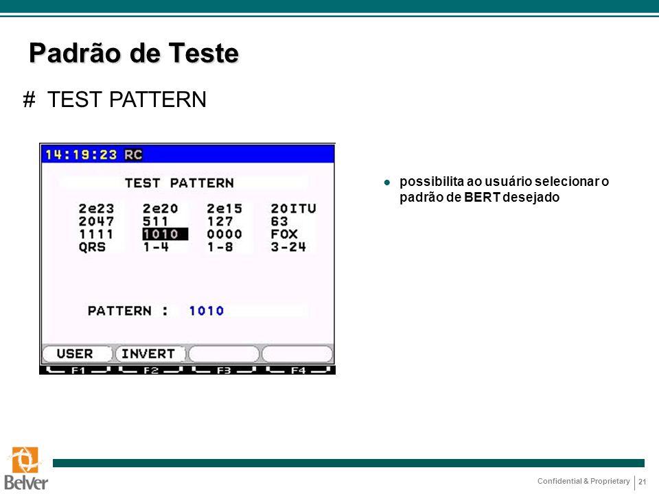 Padrão de Teste # TEST PATTERN