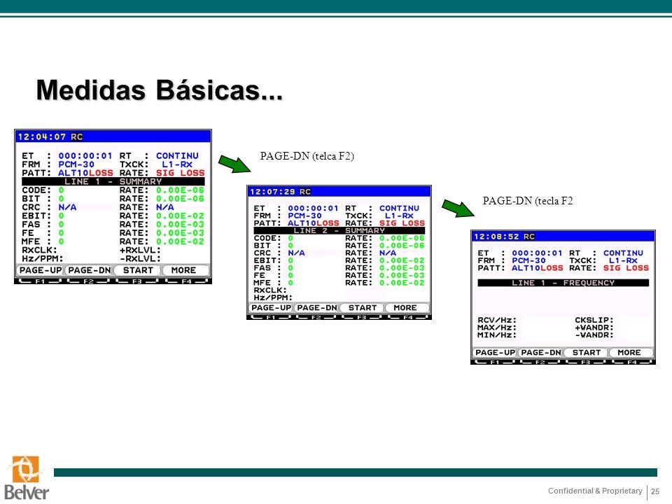 Medidas Básicas... PAGE-DN (telca F2) PAGE-DN (tecla F2