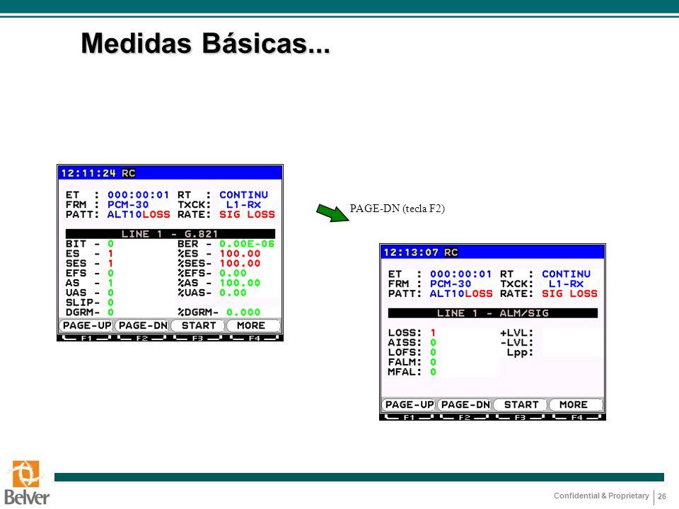 Medidas Básicas... PAGE-DN (tecla F2)