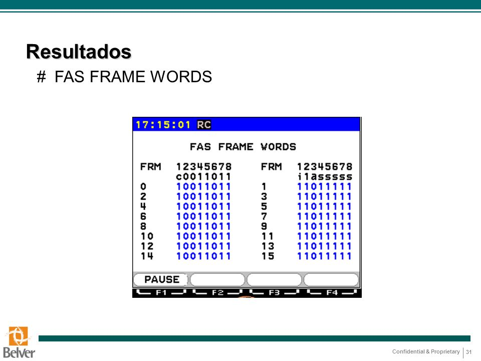 Resultados # FAS FRAME WORDS