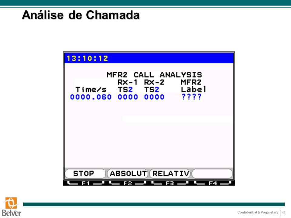 Análise de Chamada