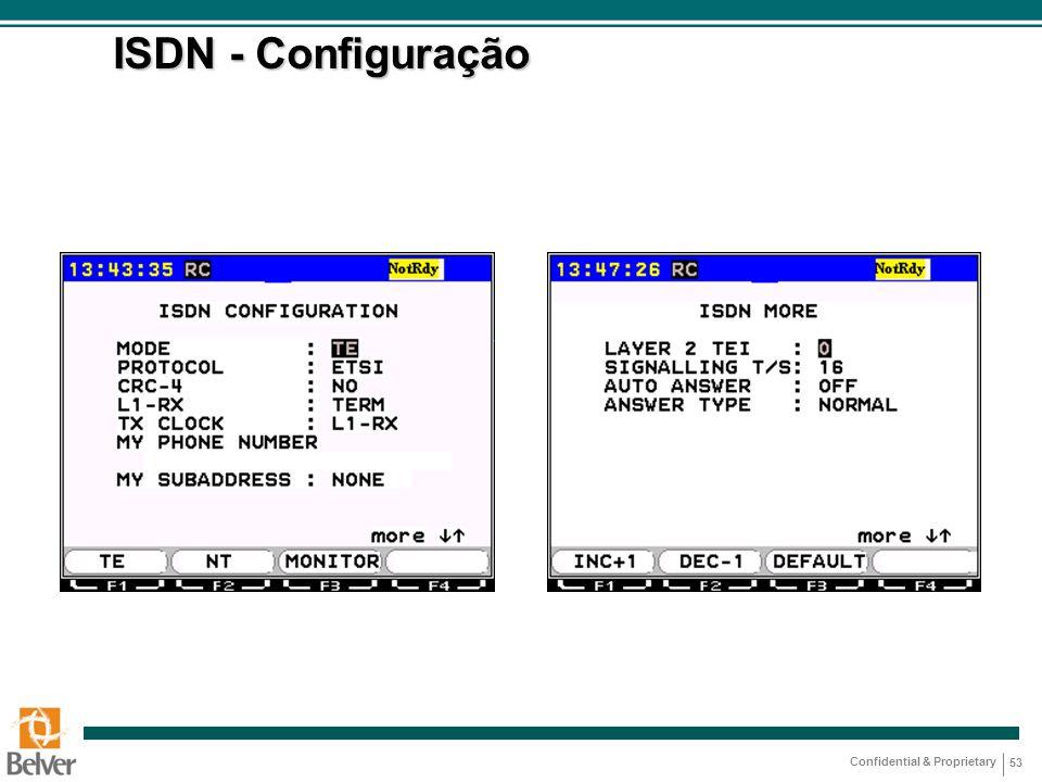 ISDN - Configuração