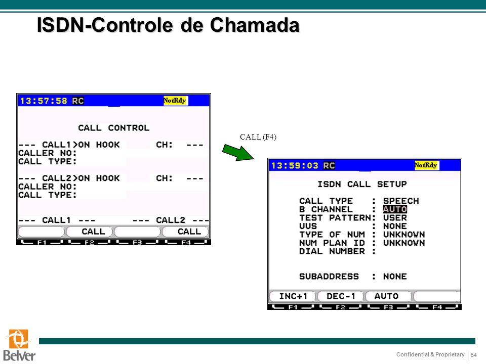 ISDN-Controle de Chamada