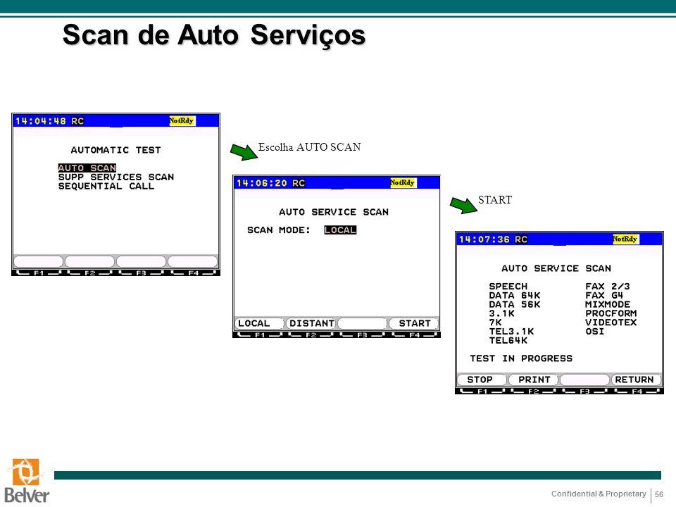 Scan de Auto Serviços Escolha AUTO SCAN START