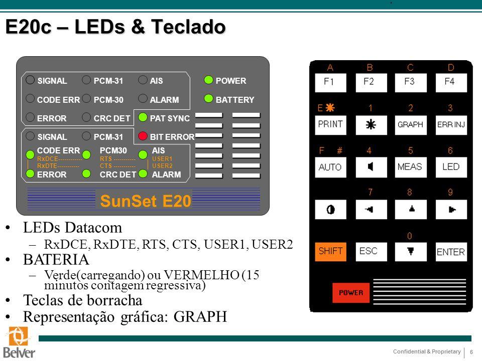 E20c – LEDs & Teclado SunSet E20 LEDs Datacom BATERIA