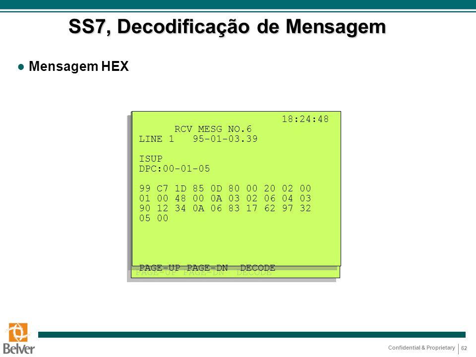 SS7, Decodificação de Mensagem