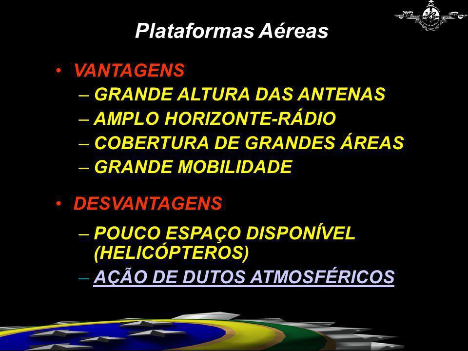 Plataformas Aéreas VANTAGENS GRANDE ALTURA DAS ANTENAS