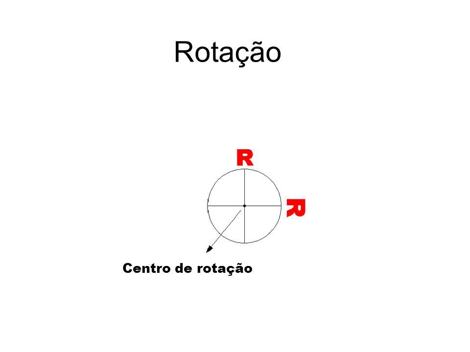 Rotação Centro de rotação