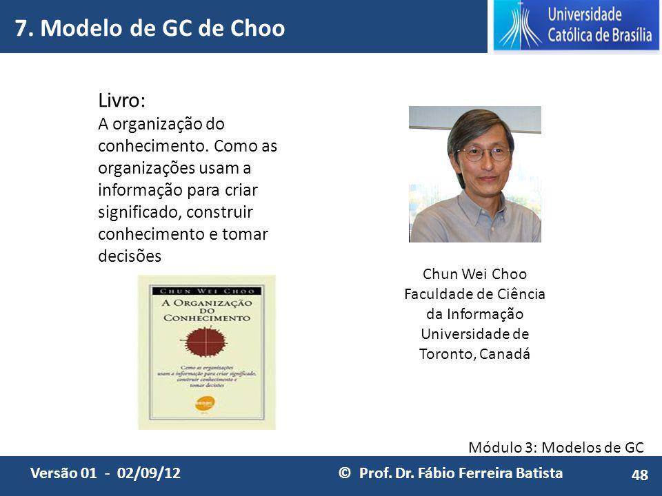 7. Modelo de GC de Choo Livro: