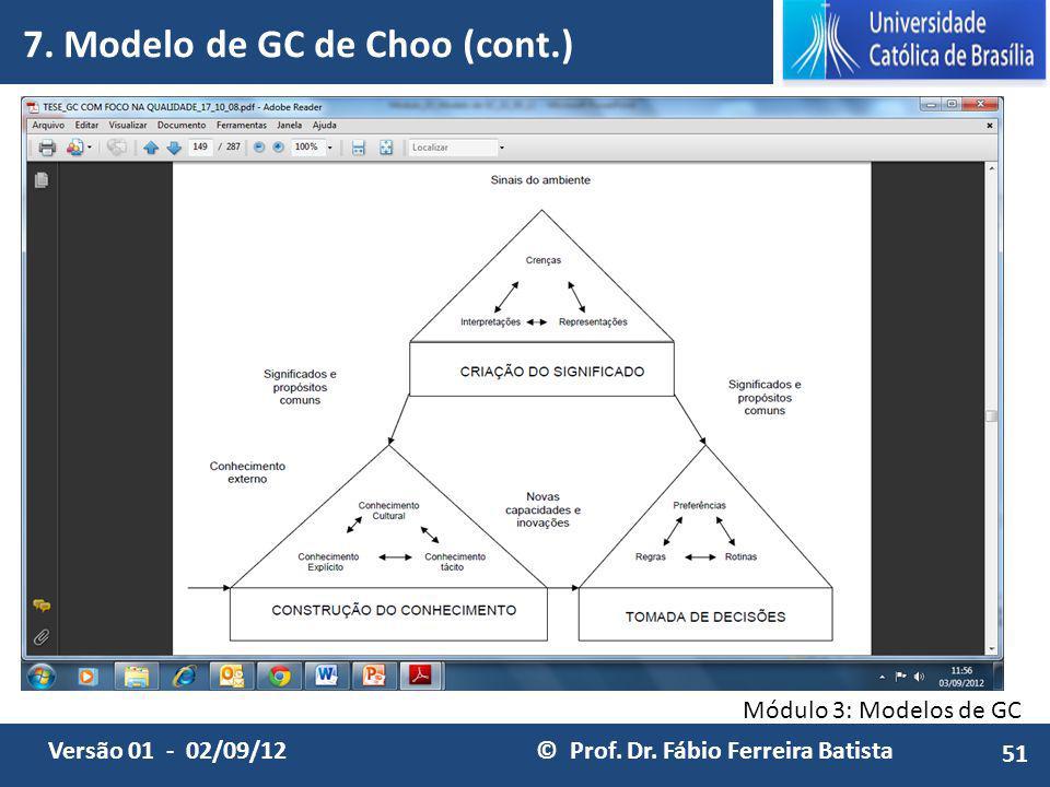 7. Modelo de GC de Choo (cont.)