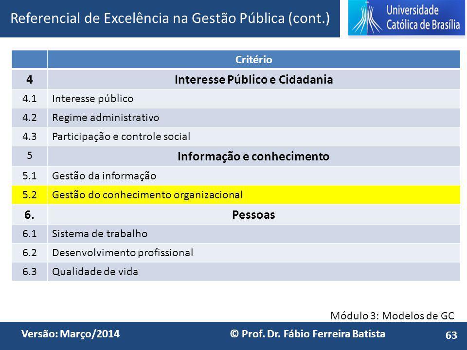 Interesse Público e Cidadania Informação e conhecimento