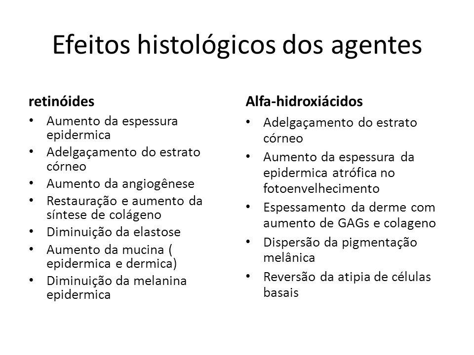 Efeitos histológicos dos agentes