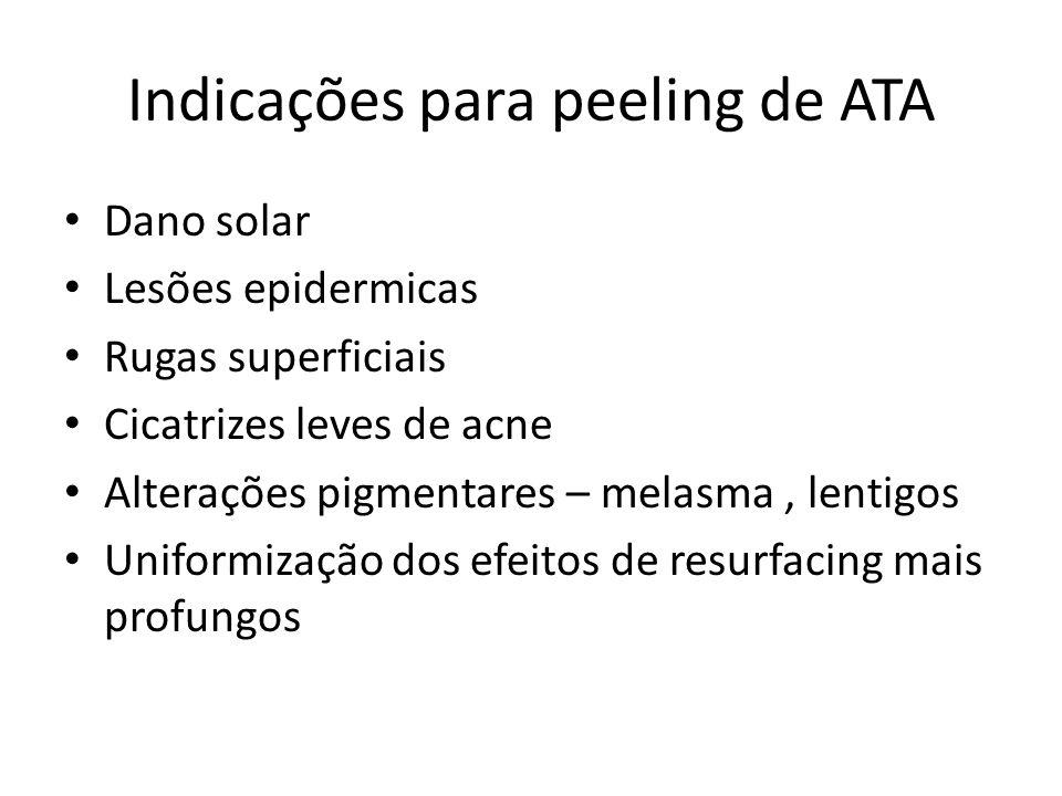Indicações para peeling de ATA