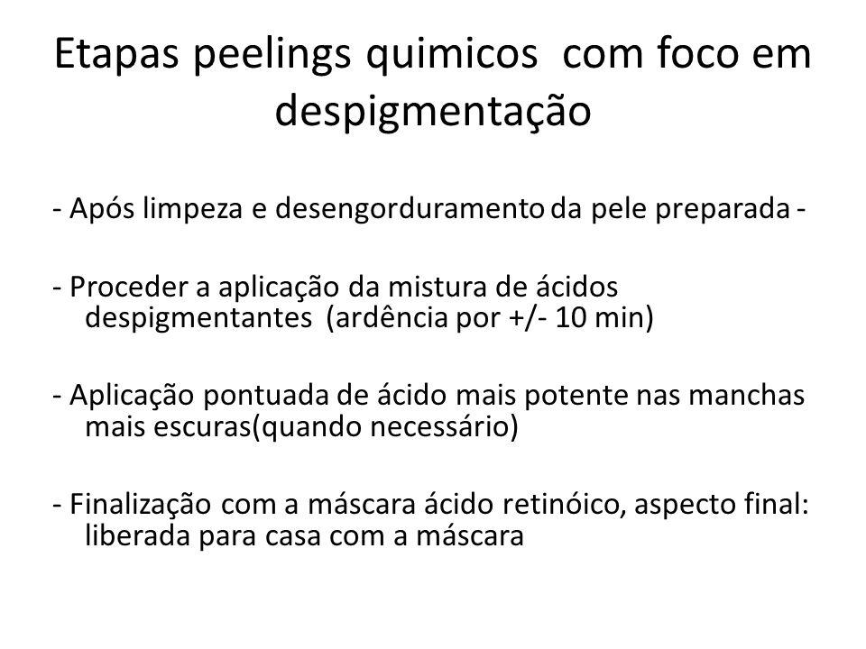 Etapas peelings quimicos com foco em despigmentação