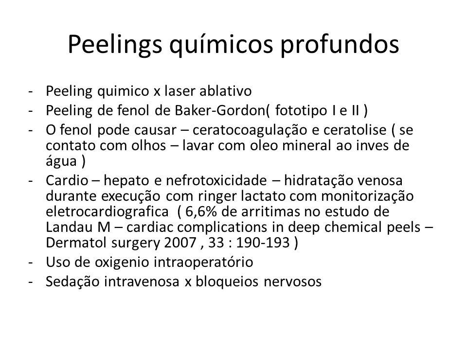 Peelings químicos profundos