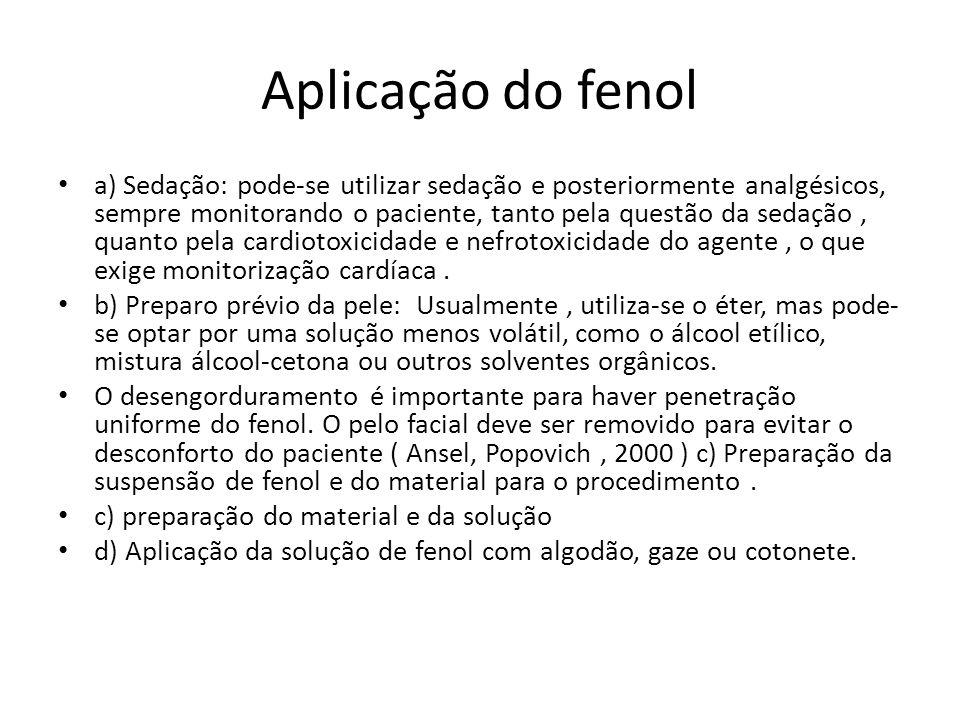Aplicação do fenol