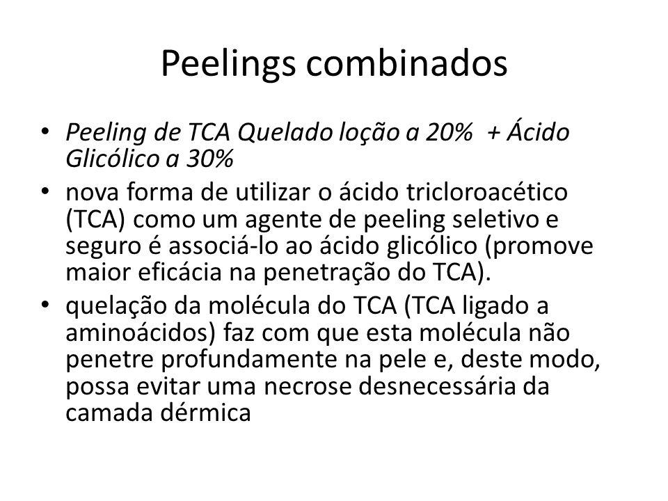 Peelings combinados Peeling de TCA Quelado loção a 20% + Ácido Glicólico a 30%