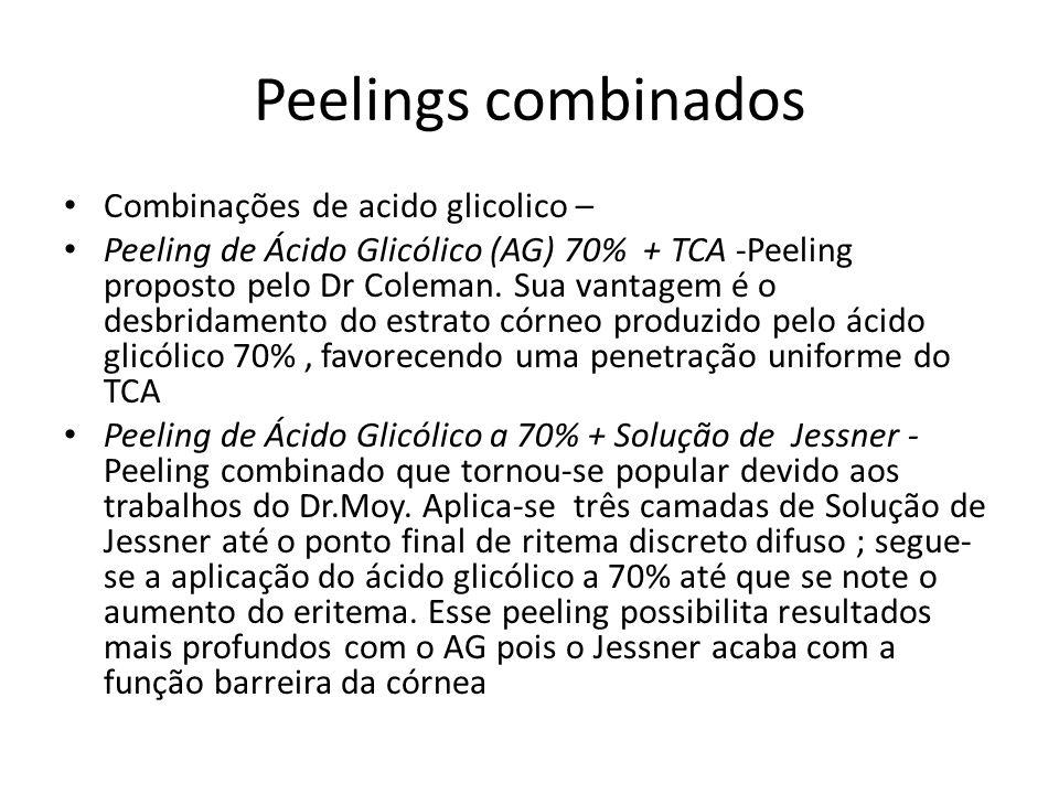 Peelings combinados Combinações de acido glicolico –