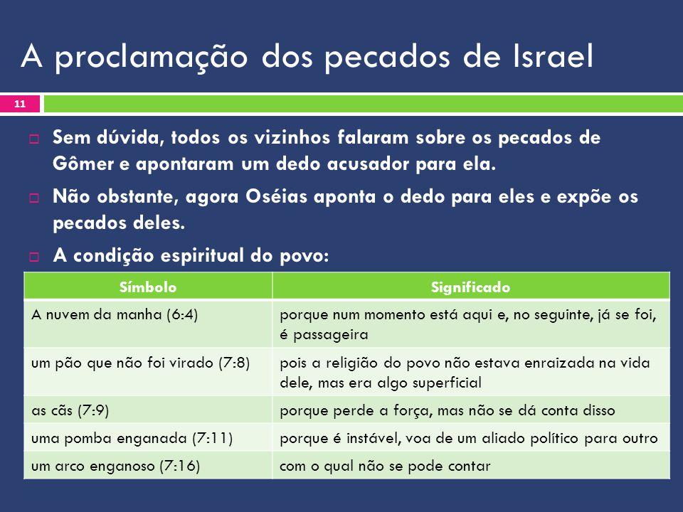A proclamação dos pecados de Israel