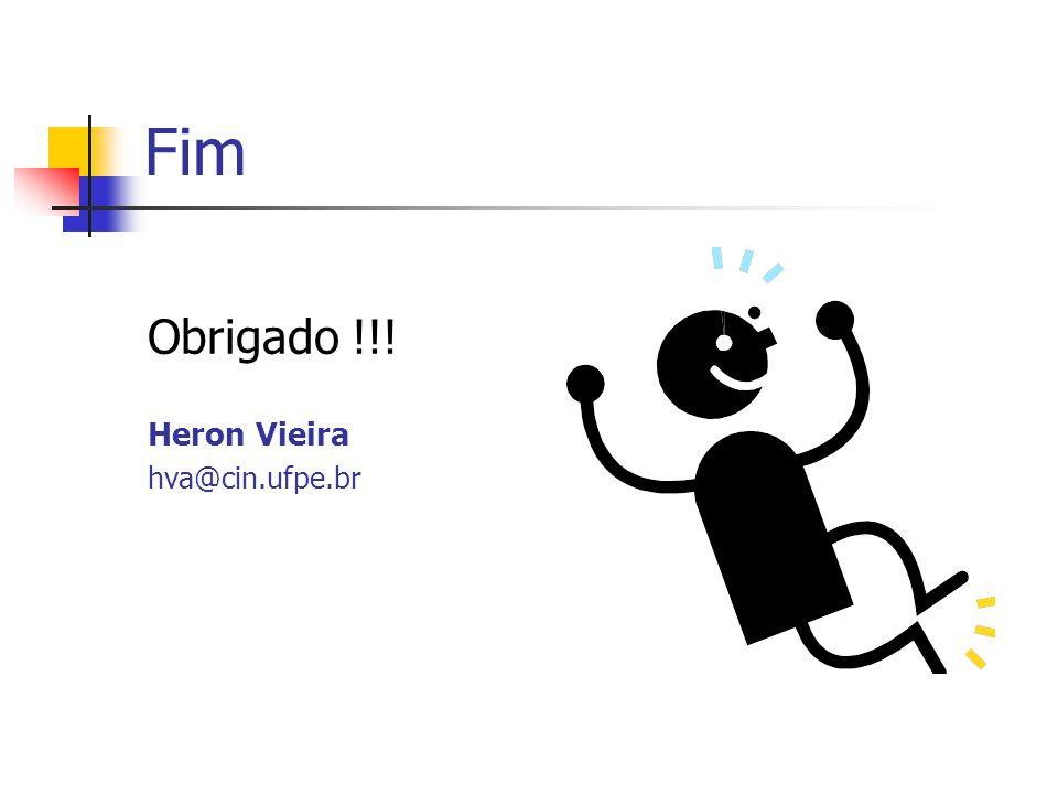 Fim Obrigado !!! Heron Vieira hva@cin.ufpe.br