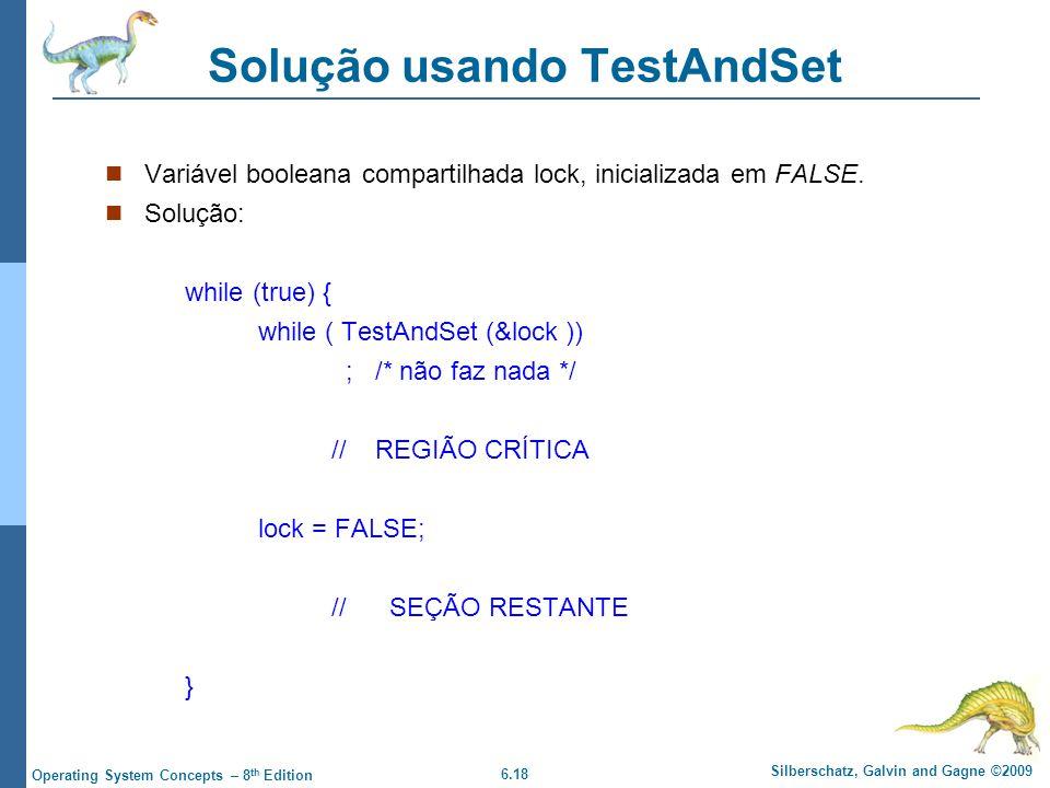 Solução usando TestAndSet