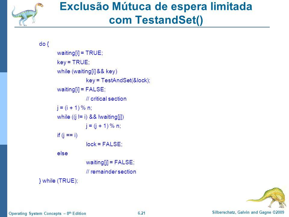 Exclusão Mútuca de espera limitada com TestandSet()