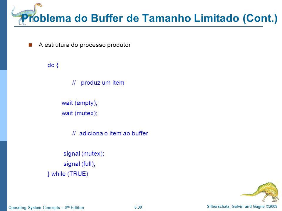 Problema do Buffer de Tamanho Limitado (Cont.)
