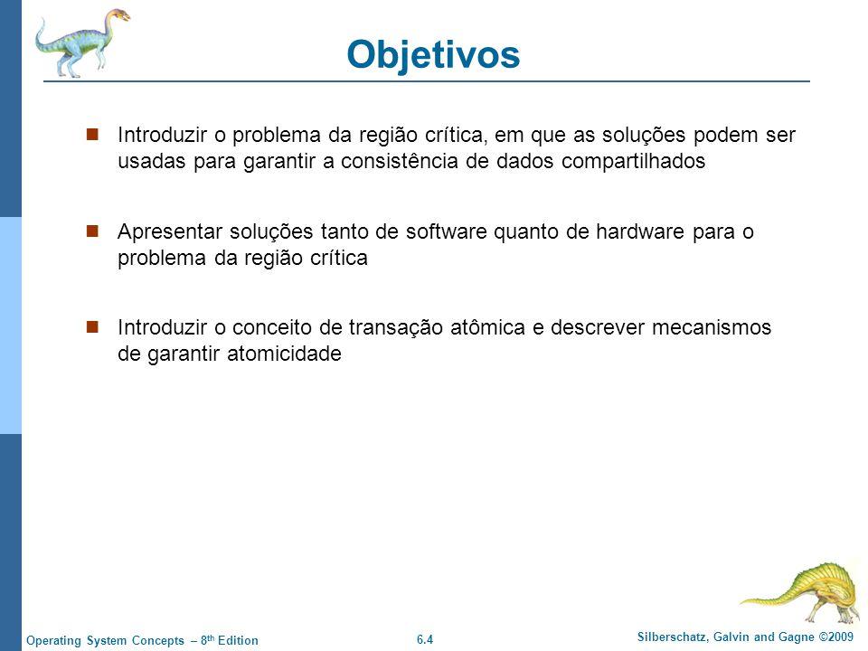 Objetivos Introduzir o problema da região crítica, em que as soluções podem ser usadas para garantir a consistência de dados compartilhados.
