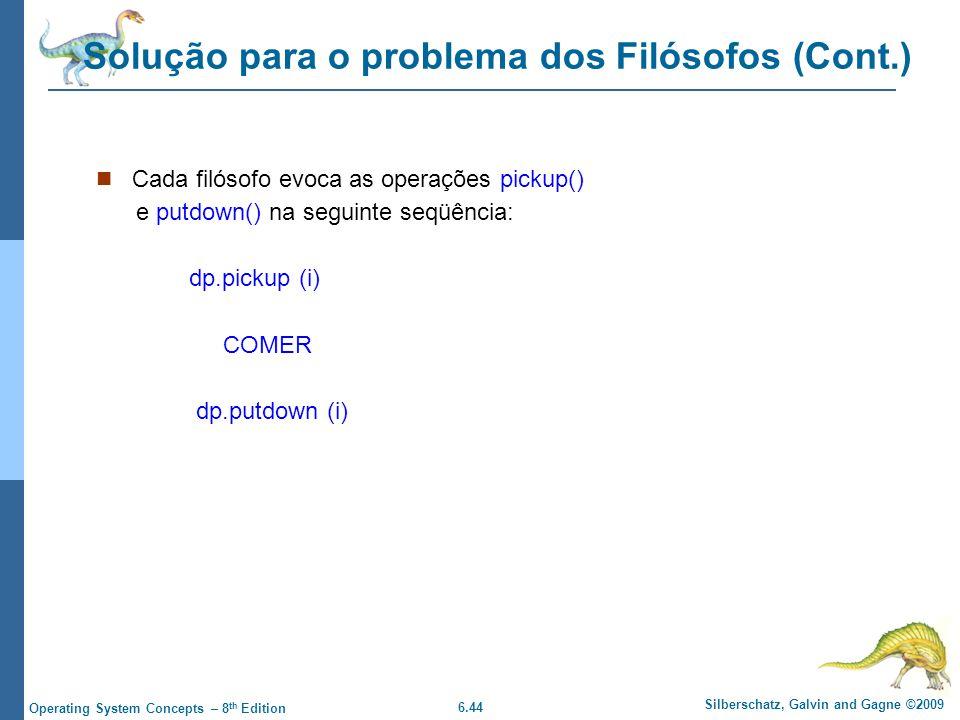 Solução para o problema dos Filósofos (Cont.)