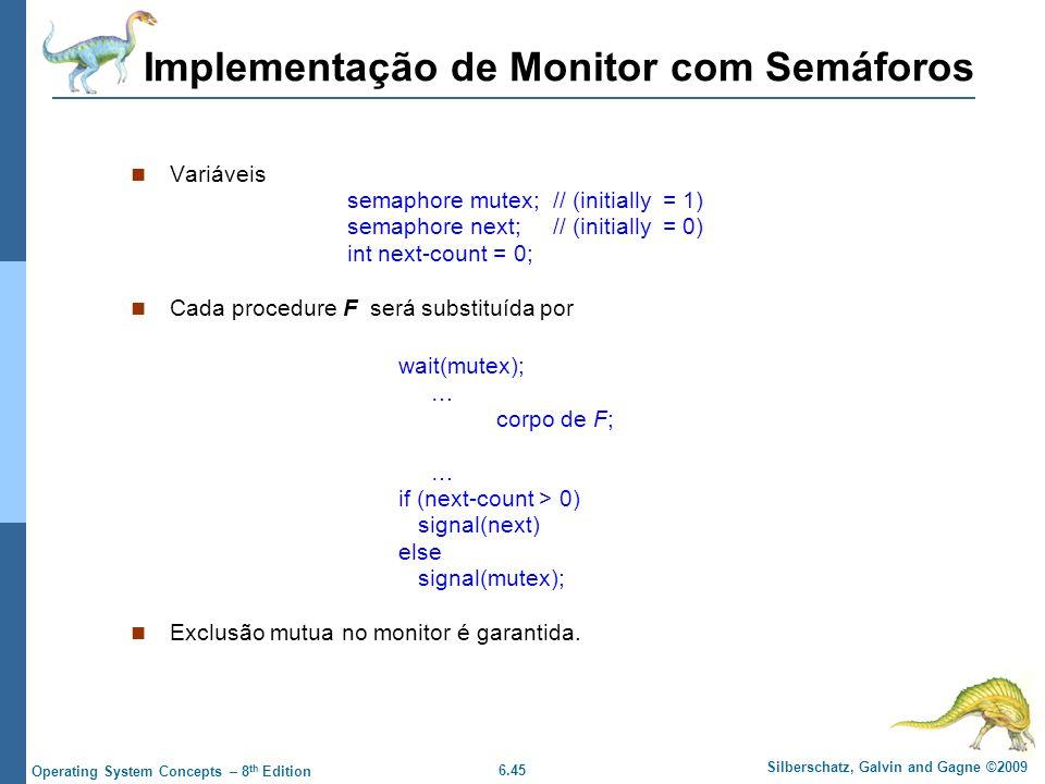 Implementação de Monitor com Semáforos