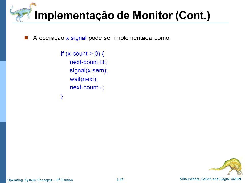 Implementação de Monitor (Cont.)