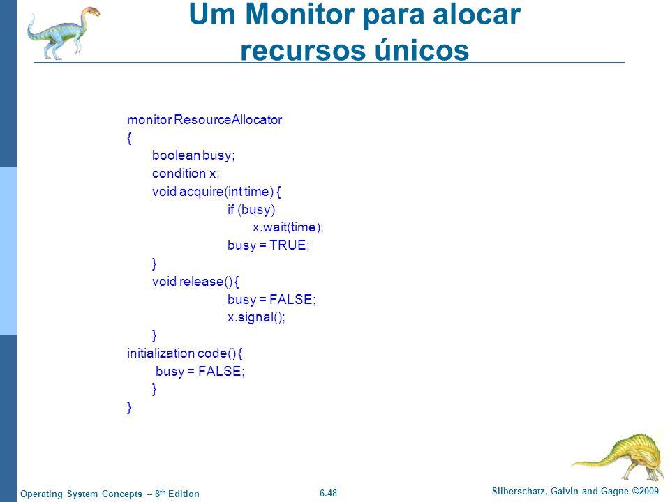 Um Monitor para alocar recursos únicos