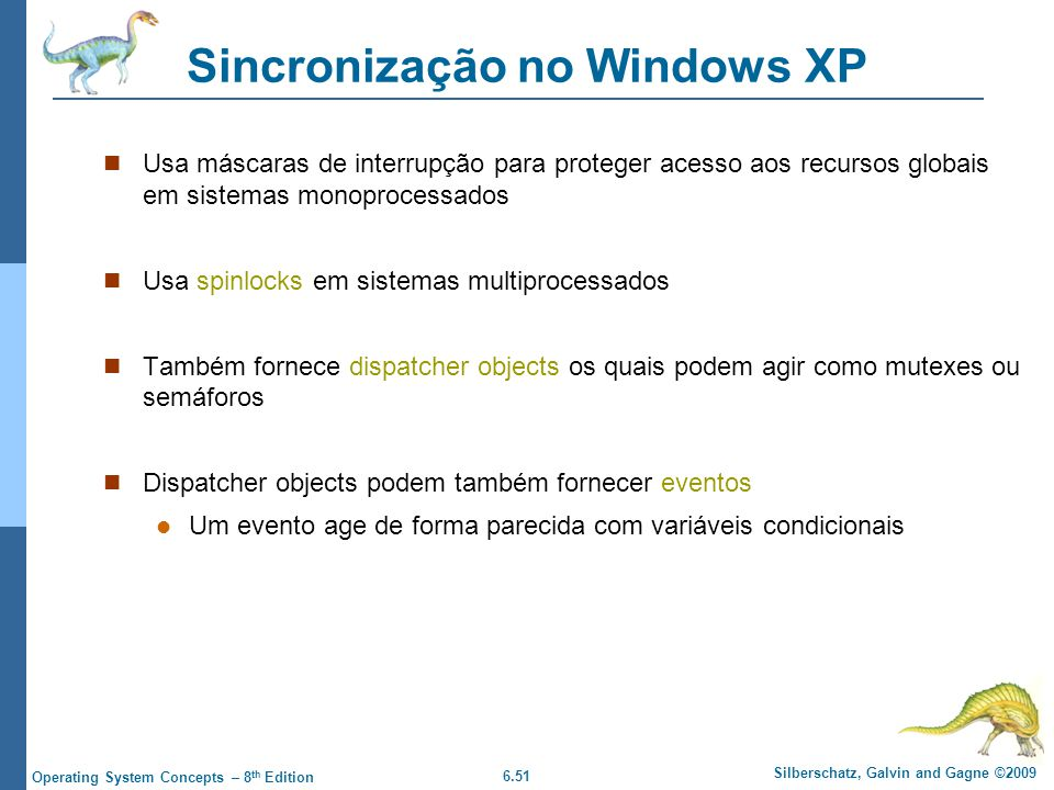 Sincronização no Windows XP