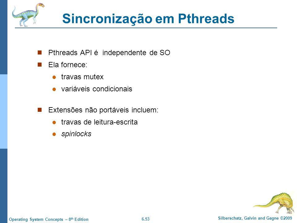 Sincronização em Pthreads