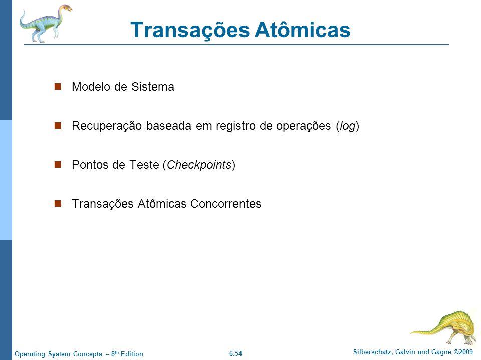 Transações Atômicas Modelo de Sistema