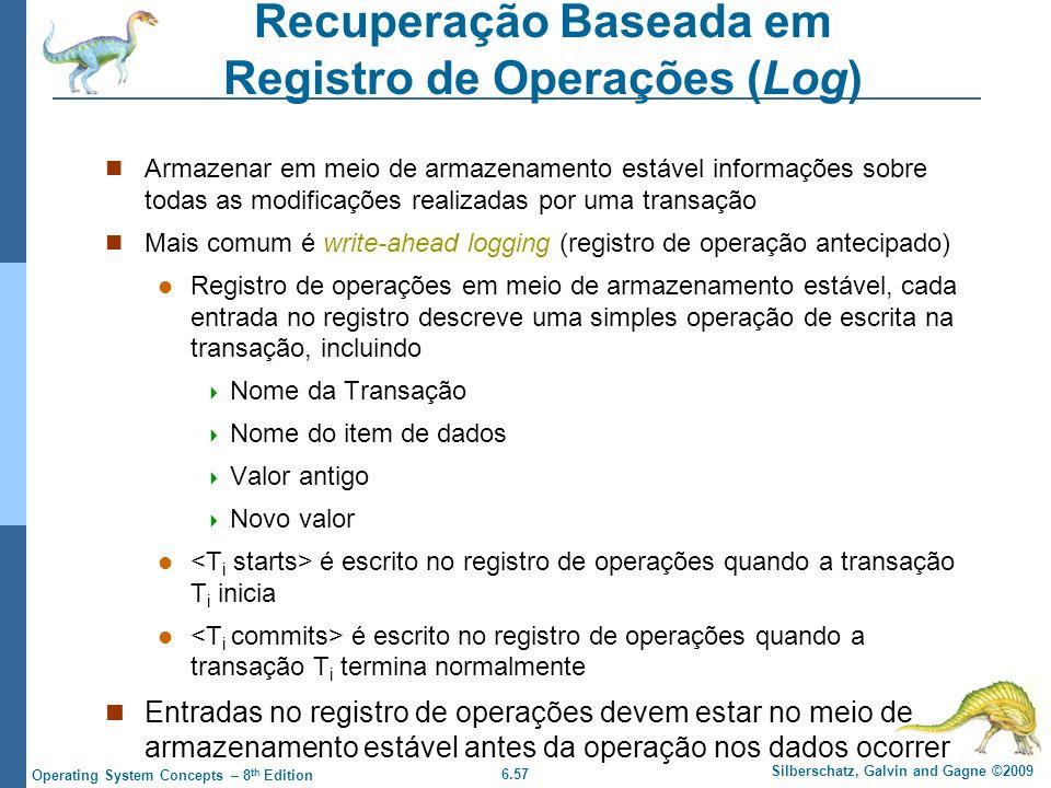 Recuperação Baseada em Registro de Operações (Log)