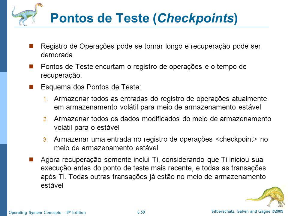 Pontos de Teste (Checkpoints)