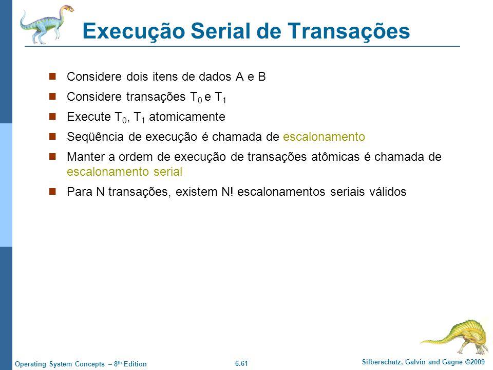 Execução Serial de Transações
