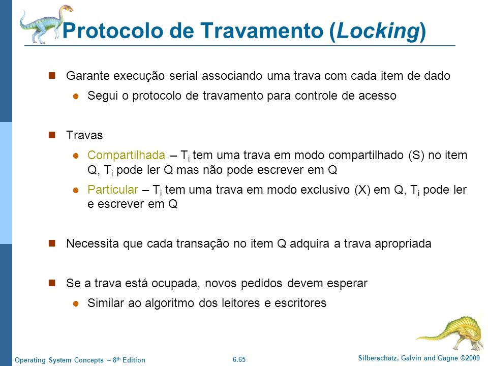 Protocolo de Travamento (Locking)