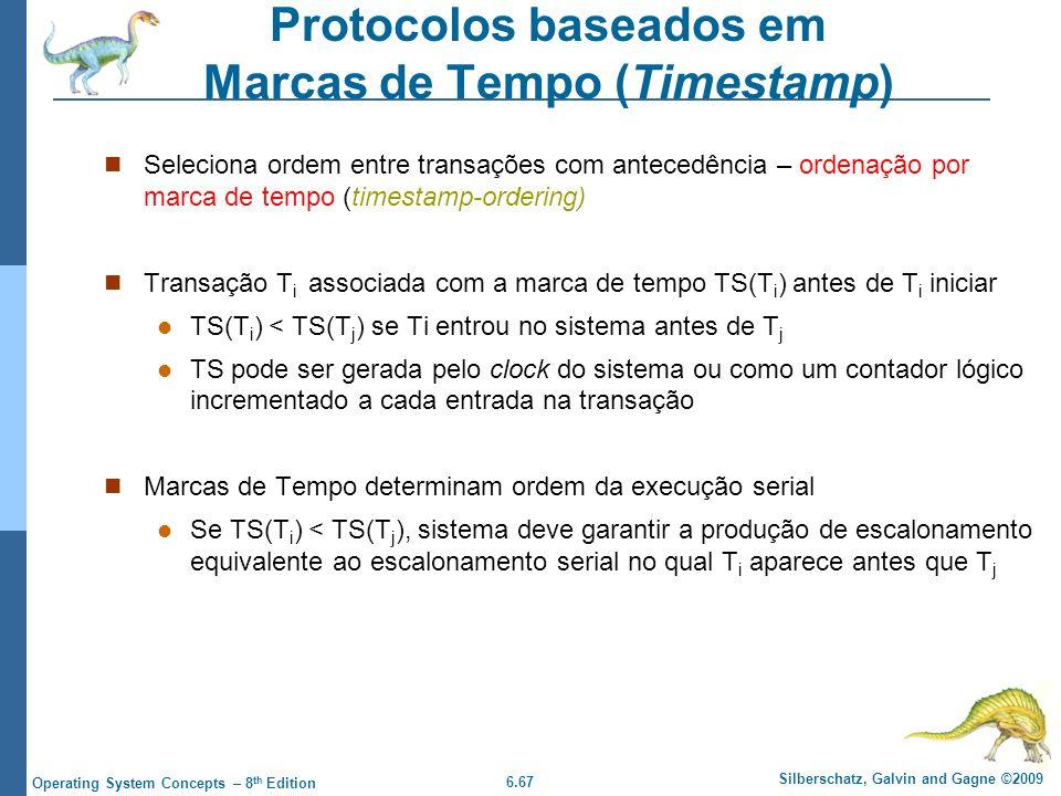 Protocolos baseados em Marcas de Tempo (Timestamp)