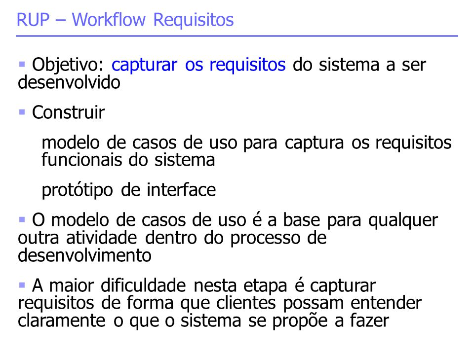 RUP – Workflow Requisitos