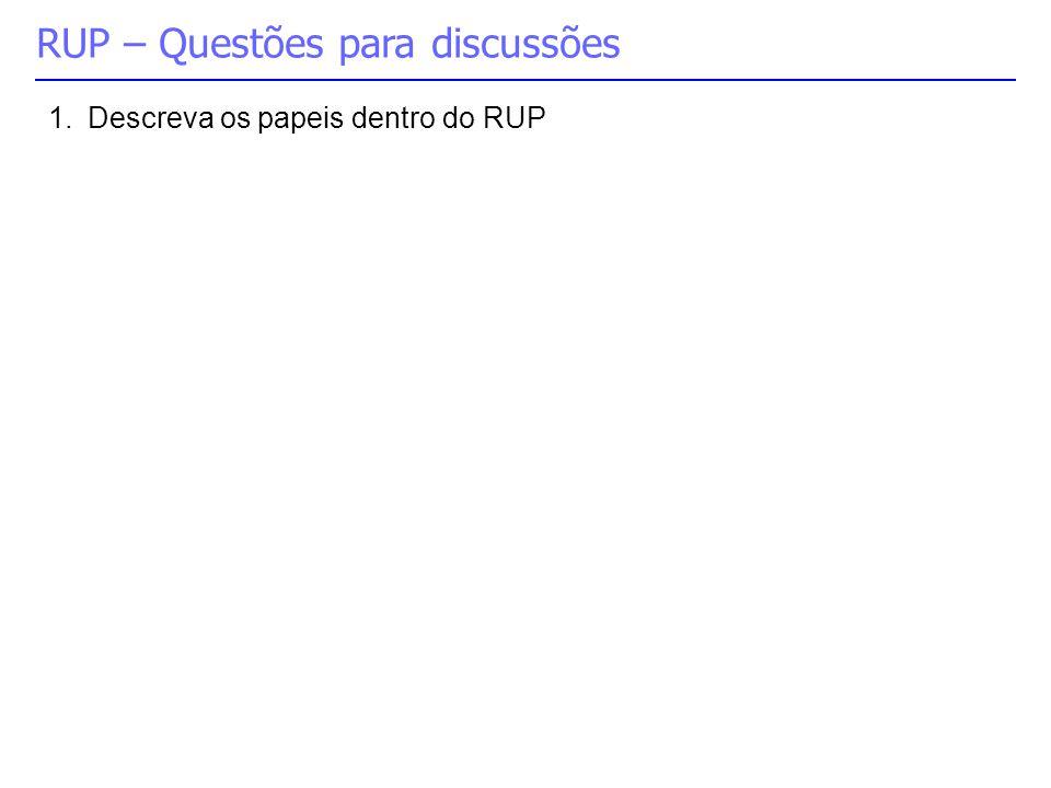 RUP – Questões para discussões