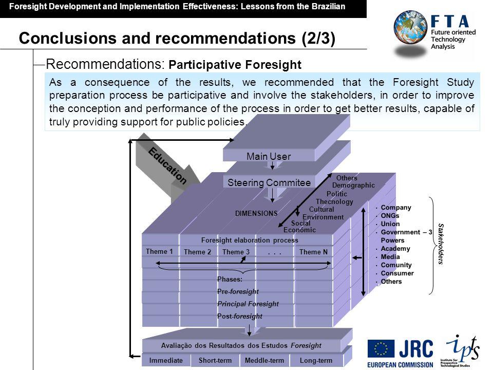 Avaliação dos Resultados dos Estudos Foresight